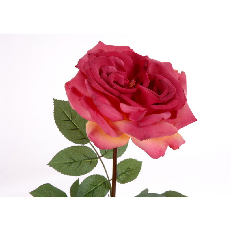 Fleur artificielle rose empereur h 81 cm amadeus for Rose artificielle