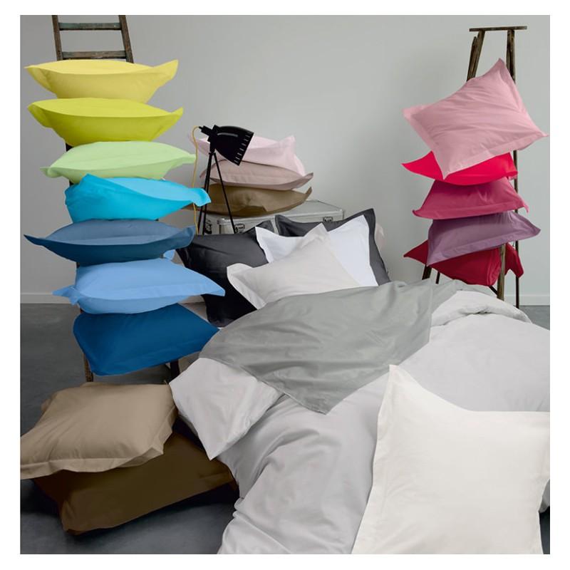 linge de lit uni 100 coton. Black Bedroom Furniture Sets. Home Design Ideas
