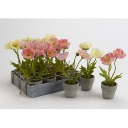 Pot fleur artificielle coquelicot garden Amadeus