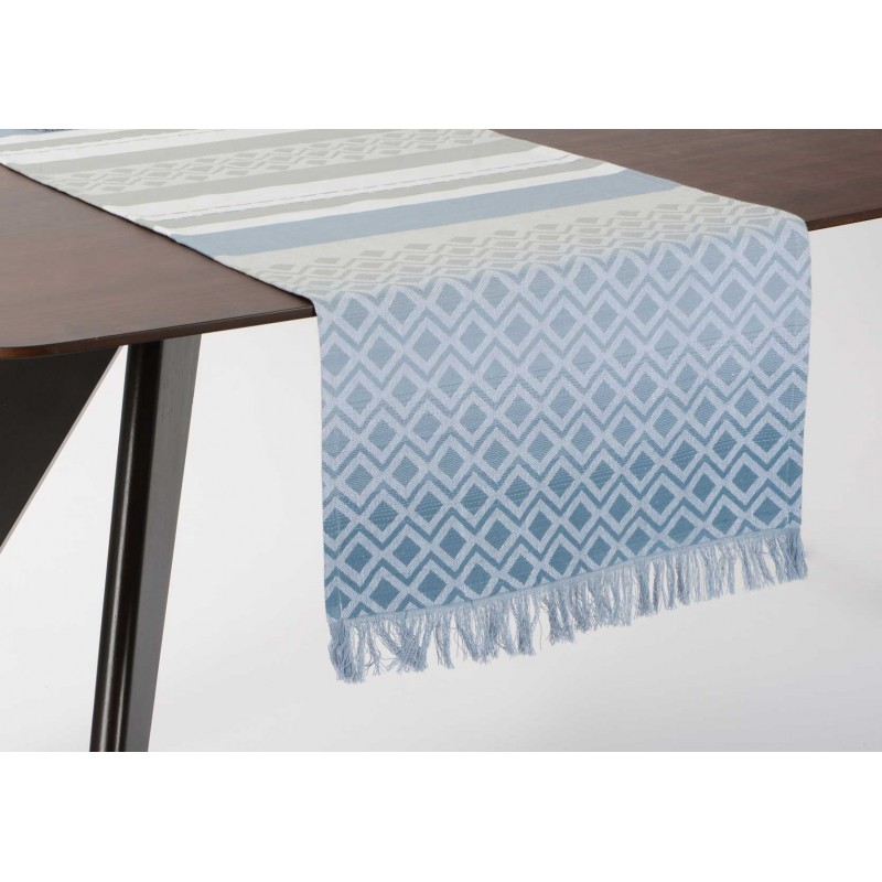 Chemin de table shade bleu 45 x 150 cm amadeus for Chemin de table bleu