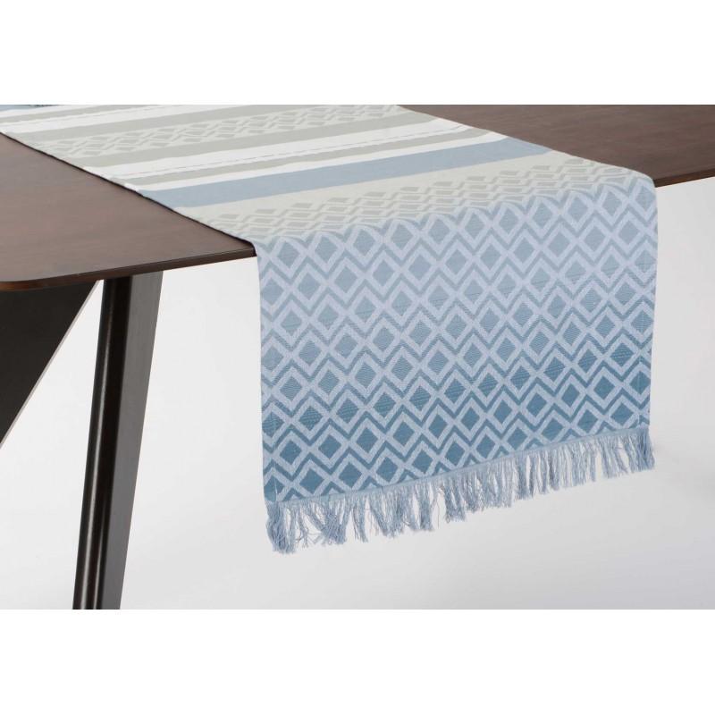 Chemin de table shade bleu 45 x 150 cm amadeus for Chemin de table 180 cm