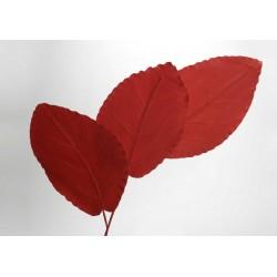 Tige feuille artificielle rouge H 153 cm Amadeus