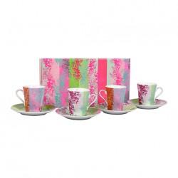 Coffret 6 tasses avec soucoupes Sakura Sema