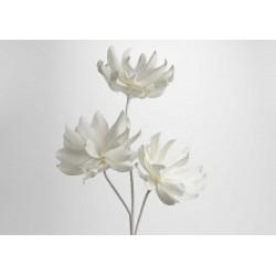 Fleur artificielle Kitty blanche H 107 cm Amadeus