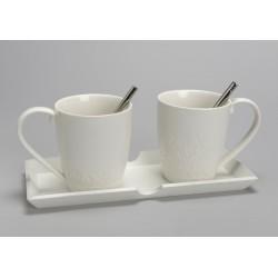 Plateau 2 mugs déjeuner Léonora Amadeus