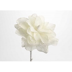 Fleur lin blanche H80 cm Amadeus