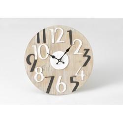 Horloge ronde bois 40 cm Amadeus