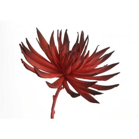 Fleur artificielle Lotusa rouge H83 cm Amadeus