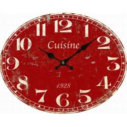 Horloge rouge Cuisine Amadeus