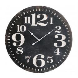 Horloge ronde noire 59 cm Antic-Line