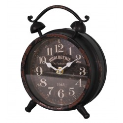 Réveil noir Horlogerie Antic-Line