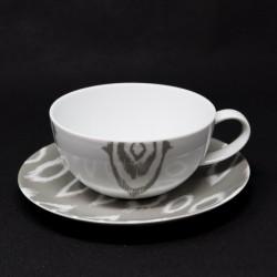 Tasse avec sous-tasse Ikat 25 cl collection Bruno Evrard