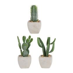 Plante cactus artificiel H13 cm Sema