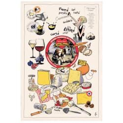 Torchon Les grands fromages 48 X 72 cm Torchons & bouchons