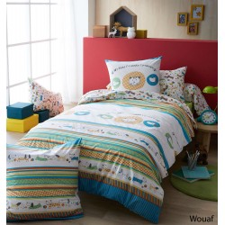 Parure de lit coton Wouaf 140 x 200 cm
