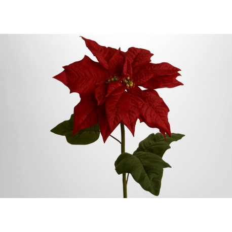 Poinsettia artificiel H 65 cm Amadeus