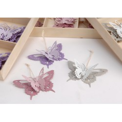Coffret 6 papillons à suspendre Amadeus