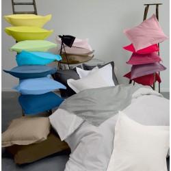 Linge de lit uni, 100 % coton à partir de