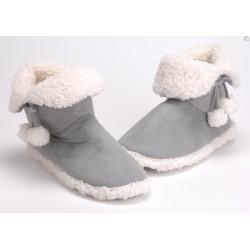 Chaussons polaire à pompons gris 39/40 Amadeus
