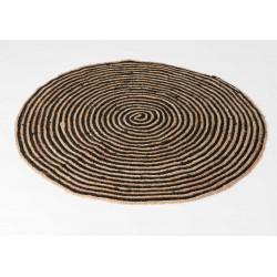 Tapis rond art déco diamètre 90 cm Amadeus