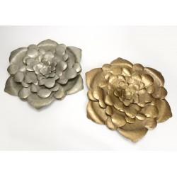 Fleur métal or/argent diamètre 56 cm Amadeus