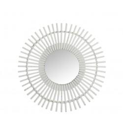 Miroir bambou rond J-line