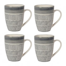 Lot de 4 mugs Ethnic Sema