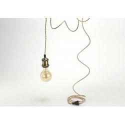 Cable+prise laiton et fil doré Amadeus
