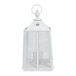 Lanterne Hoedic blanche Côté table
