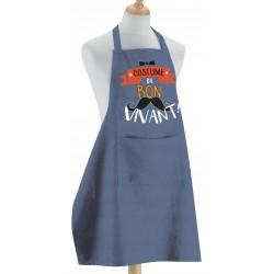 """Tablier de cuisine """"Costume du bon vivant"""" Torchons et Bouchons"""