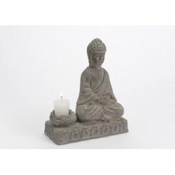 Statuette Buddha bougeoir zen Amadeus