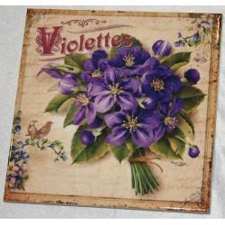 """Dessous de plat """"Violettes"""" collection Editions du Marronnier"""