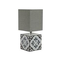 Lampe Carreau noir H26 cm Sema