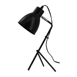 Lampe noir H43 cm Sema