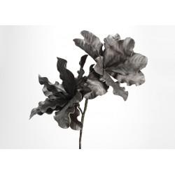 Tige fleur feuille artificielle irisé mordoré H94 cm Amadeus