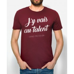 "Tee-shirt homme ""J'y vais au talent"" Monsieur Tshirt"