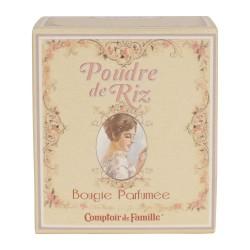 Bougie parfumée Poudre de riz 140 gr comptoir de famille