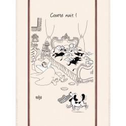"""Grand torchon Dubout """"Courte nuit"""" 60 x 80 cm Torchons et Bouchons"""