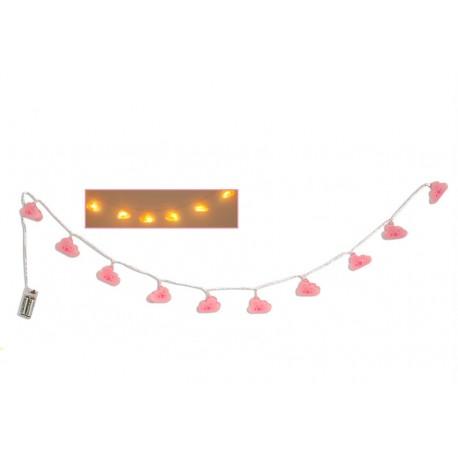 Guirlande lumineuse 10 LED Nuages 165 cm Faye