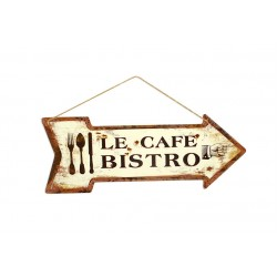 Plaque murale Le café bistrot Faye