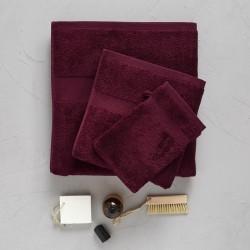 Serviette drap de bain 70 x 140 cm Betterave Sylvie Thiriez
