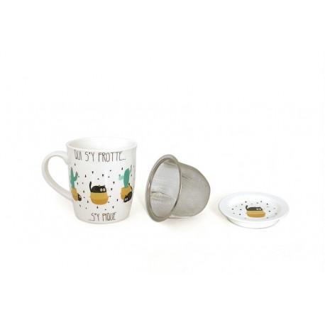 """Mug tisanière """"Chactus"""" Faye"""