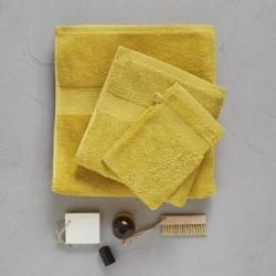 Serviette drap de bain 70 x 140 cm jaune sésame Sylvie Thiriez