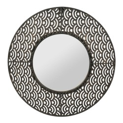 Miroir Vagues noir 35 cm Sema