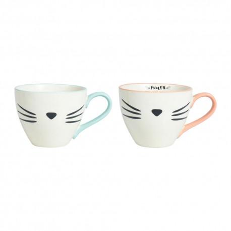 Coffret 2 tasses à thé Miaou Sema