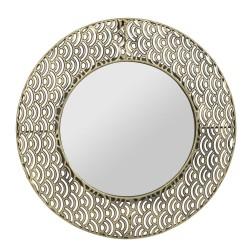 Miroir Vagues doré 38 cm Sema