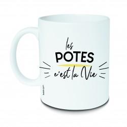 """Mug """"Les potes c'est la vie"""" Bubble Gum"""