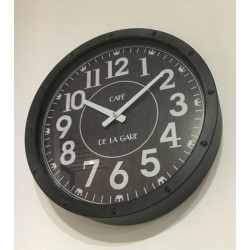 """Horloge """"Café de la gare"""" 40 cm Country Casa"""