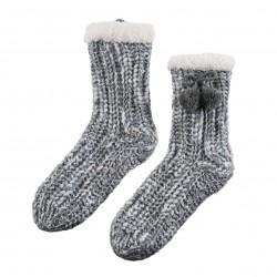 Chaussons chausettes gris La maison de Lilo