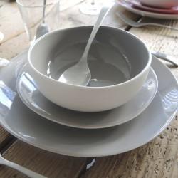 Assiette à dessert ronde 20 cm Terana rouge